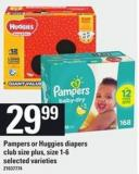 Pampers Or Huggies Diapers - Size 1-6