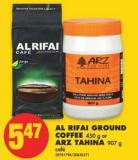 Al Rifai Ground Coffee 450 g or Arz Tahina 907 g