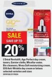 L'oréal Revitalift - Age Perfect Day Cream - Toners - Garnier Cloths - Micellar Water - Bio Cleansers - Nivea Soft Moisturizing Cream - Q10 Anti-wrinkle Day Cream Or Lotions