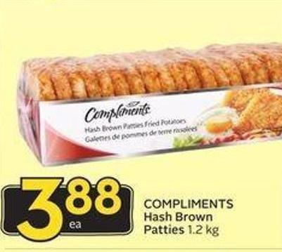 Compliments Hash Brown Patties