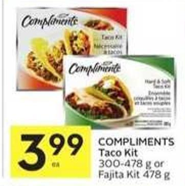 Compliments Taco Kit