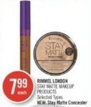 Rimmel London Stay Matte Makeup Products