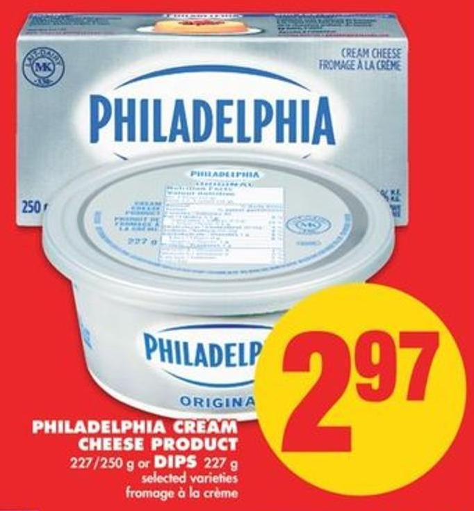 Philadelphia Cream Cheese Product 227/250 G Or Dips 227 G