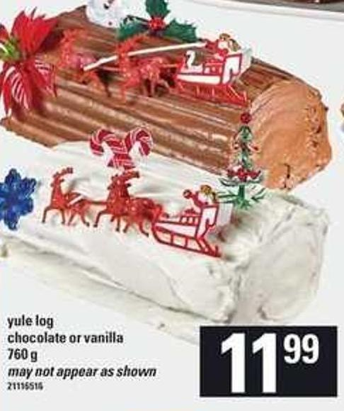 Yule Log Chocolate Or Vanilla