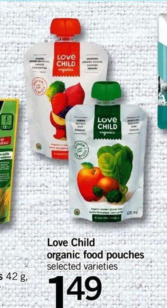 Love Child Organic Food Pouches - 128 Ml