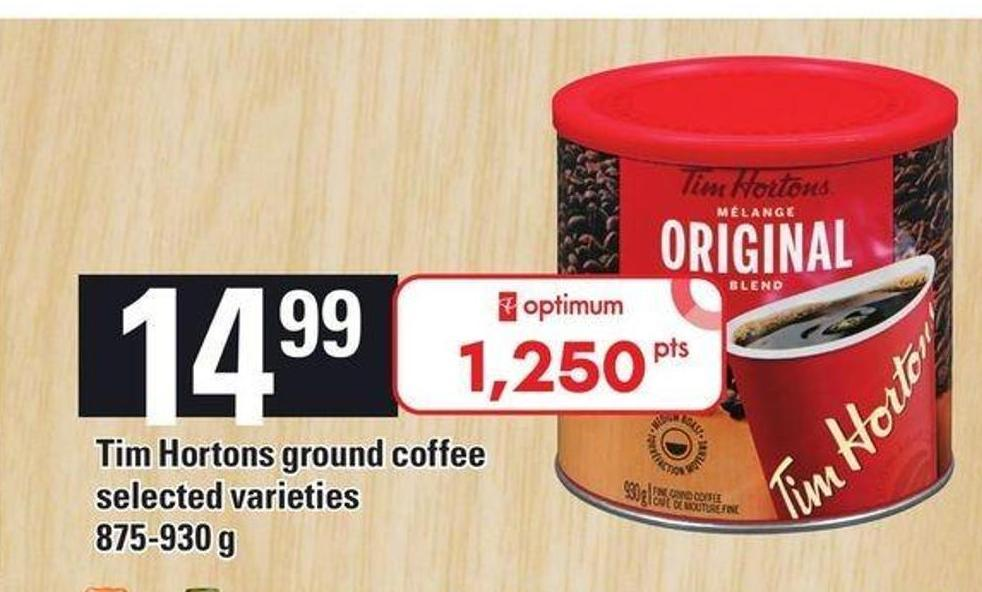 Tim Hortons Ground Coffee 875-930 G