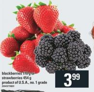 Blackberries - 170 G Or Strawberries - 454 G
