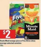 Minute Maid Orange Juice Or Five Alive Citrus Beverage - 1.75 L