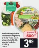 Bonduelle Single Serve Salads Kits With Protein Or Taylor Farms Snack Kits - 127-212 G