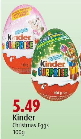 Kinder Christmas Eggs 100g