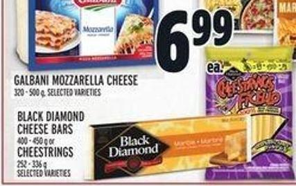 Black Diamond Cheese Bars 400 - 450 g Or Cheestrings 252 - 336 g