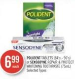 Polident Tablets (84's - 96's) or Sensodyne Repair & Protect Whitening Toothpaste (75ml)