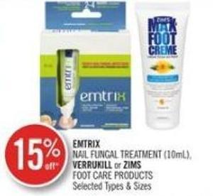Emtrix Nail Fungal Treatment (10ml) - Verrukill or Zims Foot Care Products