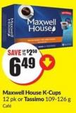 Maxwell House K-cups 12 Pk or Tassimo 109-126 g