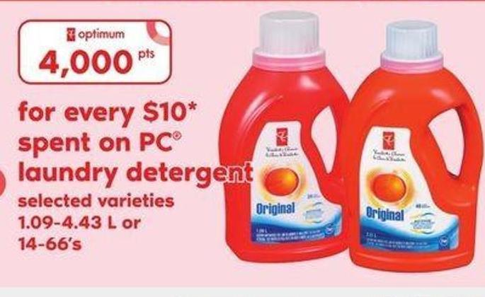 PC Laundry Detergent.1.09-4.43 L or 14-66's