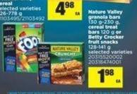 Nature Valley Granola Bars 130 G-230 G - Cereal Treat Bars 120 G Or Betty Crocker Fruit Snacks 128-141 G