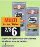 Right Guard Premium Antiperspirant Or Deodorant - 73 G