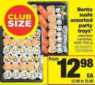 Bento Sushi Assorted Party Trays - 400-700 g