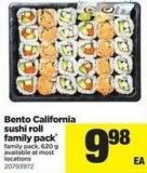 Bento California Sushi Roll Family Pack - 620 G