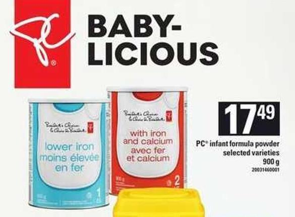 PC Infant Formula Powder.900 g