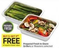 Prepared Fresh In-store Grillers or Roasters Selected