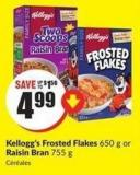 Kellogg's Frosted Flakes 650 g or Raisin Bran 755 g