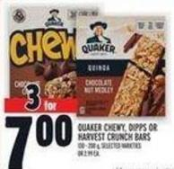 Quaker Chewy - Dipps Or Harvest Crunch Bars 130 - 200 g
