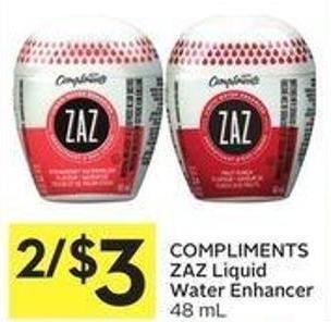 Compliments Zaz Liquid Water Enhancer
