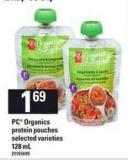 PC Organics Protein Pouches - 128 mL