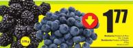 Blueberries Product of Peru No. 1 Grade Blackberries Product of Mexico 170 g