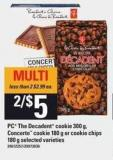 PC The Decadent Cookie - 300 G - Concerto Cookie - 180 G Or Cookie Chips - 180 G