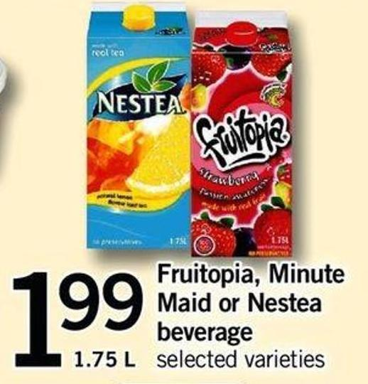 Fruitopia - Minute Maid Or Nestea Beverage - 1.75 L