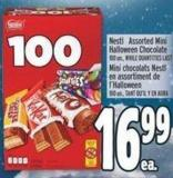 Nestlé Assorted Mini Halloween Chocolate 100 Un.