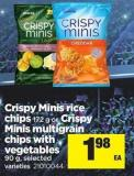 Crispy Minis Rice Chips - 172 G Or Crispy Minis Multigrain Chips With Vegetables - 90 G