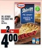 Dr. Oetker Pie Crust Mix  273g Or 2.40 Ea.