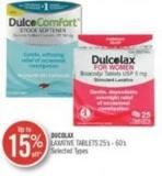 Ducolax Laxative Tablets 25's - 60's