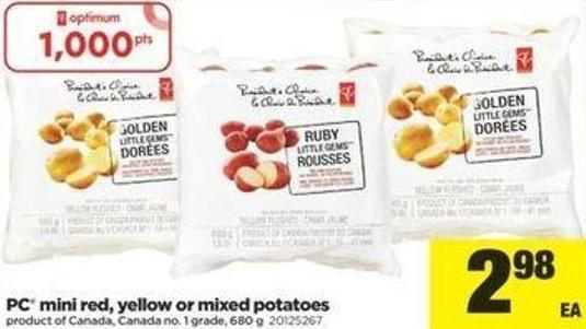 PC Mini Red - Yellow Or Mixed Potatoes - 680 G