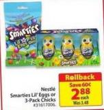 Nestlé Smarties Lil's Eggs or 3-pack Chicks