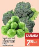 Large Broccoli Each Or Brussels Sprouts