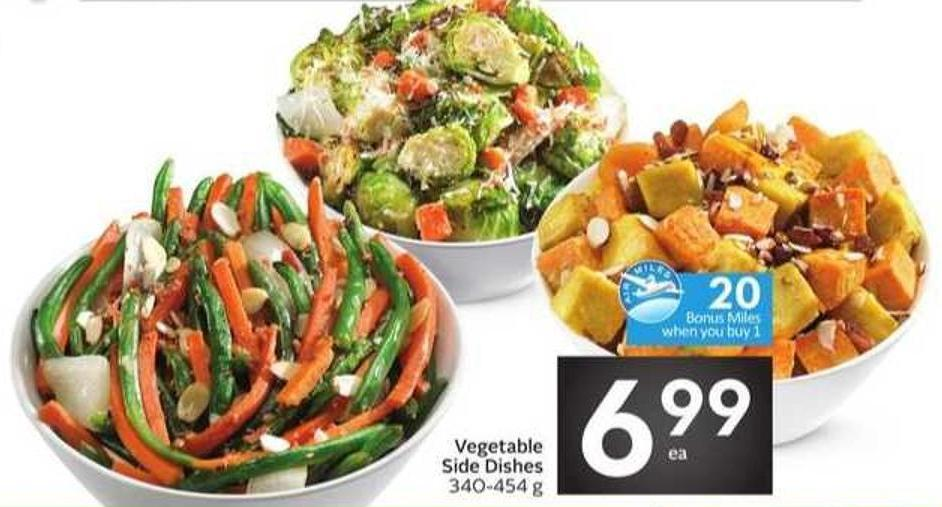 Vegetable Side Dishes - 20 Air Miles Bonus Miles