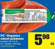 PC Organics Sweet Potatoes - 3 Lb Bag