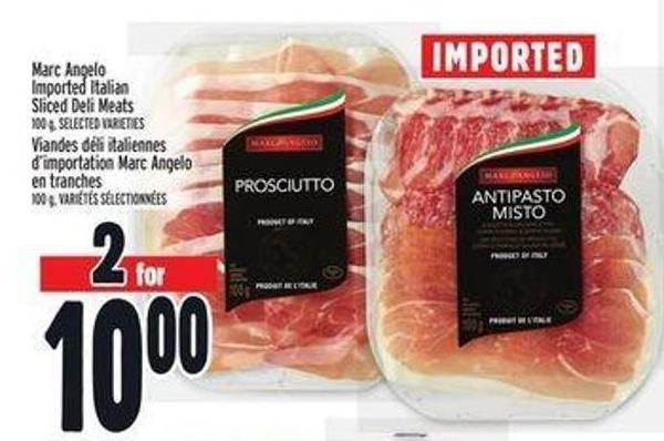 Marc Angelo Imported Italian Sliced Deli Meats
