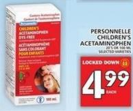 Personnelle Children's Acetaminophen