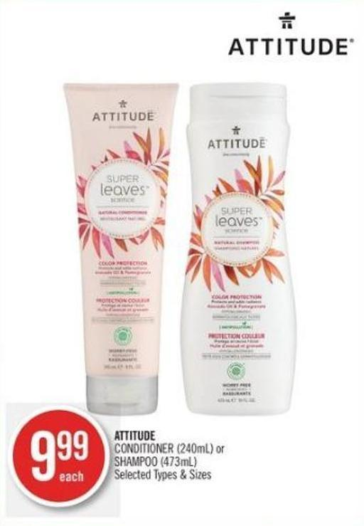 Attitude Conditioner (240ml) or Shampoo (473ml)