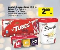 Yoplait Source Tubs - 650 G - Tubes - 8 X 60 G Or Minigo - 6 X 60 G