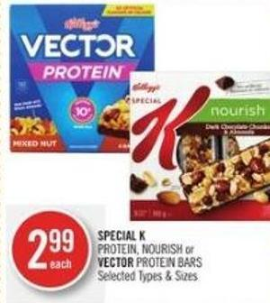 Special K Protein - Nourish or Vector Protein Bars