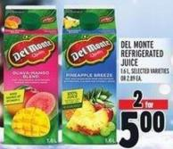 Del Monte Refrigerated Juice 1.6 L -