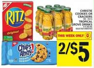 Christie Cookies Or Crackers Or Tropical Grove Drinks