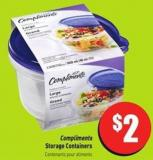 Compliments Storage Containers
