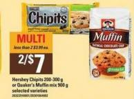 Hershey Chipits 200-300 G Or Quaker's Muffin Mix 900 G